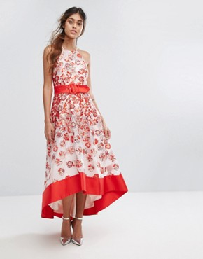 photo Charron Organza Dress by Coast, color Red - Image 1