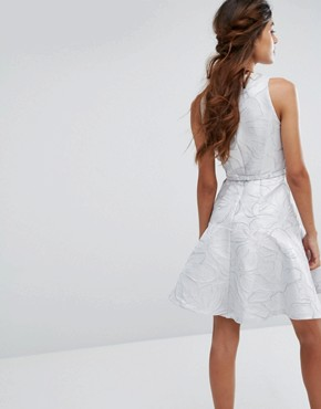 photo Francesca Skater Dress by Coast, color Silver - Image 2
