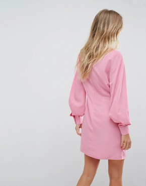 photo Washed Mini Dress by ASOS, color Pink - Image 2