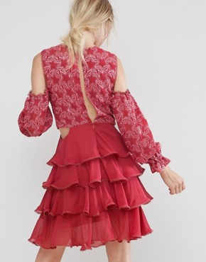 photo Allegro Lace and Ruffles Dress by Isla, color Blush - Image 2