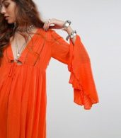 photo Romeo Flared Sleeve Dress by Free People, color Peach - Image 3