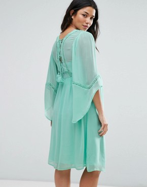 photo Lace Up Dress by ASOS Maternity, color Turquoise - Image 2