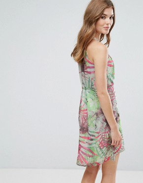 photo Palm Print Cami Dress with Cut Out Detail by Lavand, color Multi - Image 2