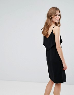 photo Cami Dress with Frill Overlay by Lavand, color Black - Image 2