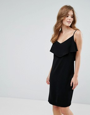 photo Cami Dress with Frill Overlay by Lavand, color Black - Image 1