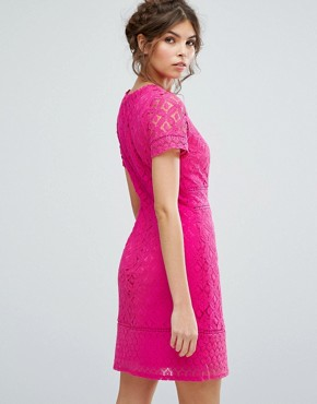photo Lace Shift Dress by Oasis, color Pink - Image 2