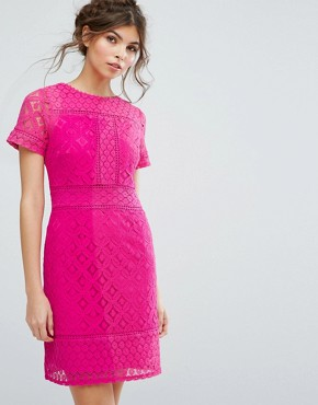 photo Lace Shift Dress by Oasis, color Pink - Image 1