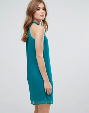 photo Halterneck Shift Dress by Lavand, color Blue - Image 2