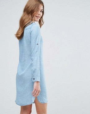 photo Long Sleeve Shirt Dress by Lavand, color Blue - Image 2