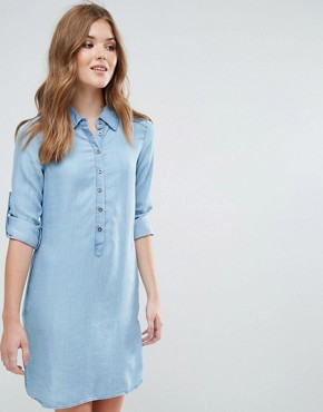 photo Long Sleeve Shirt Dress by Lavand, color Blue - Image 1