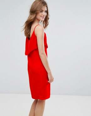 photo Cami Dress with Frill Overlay by Lavand, color Red - Image 2