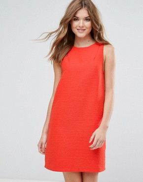 photo Sleeveless Shift Dress by Lavand, color Red - Image 1
