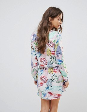 photo Palm Print Shirt Dress by Lavand, color Multi - Image 2