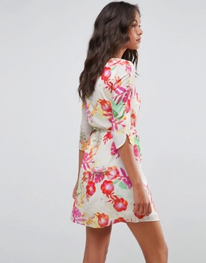 photo Floral Belted Dress by Lavand, color Multi - Image 2