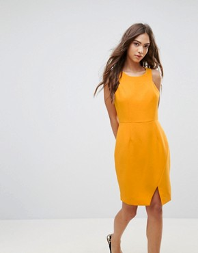 photo Asymmetric Shift Dress by Lavand, color Orange - Image 1