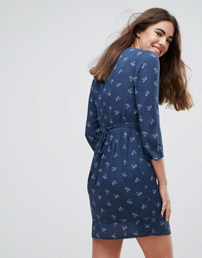 photo Laura Blue Soul Print Dress by Pepe Jeans, color Navy - Image 2