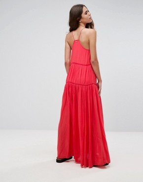 photo Lala Essentials Maxi Dress by Pepe Jeans, color Red - Image 2