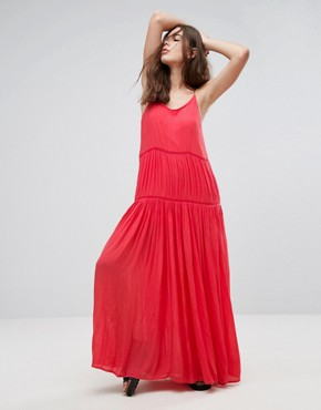 photo Lala Essentials Maxi Dress by Pepe Jeans, color Red - Image 1