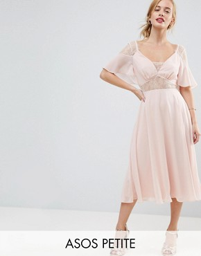 photo Kate Lace Midi Dress by ASOS PETITE, color Peach - Image 1