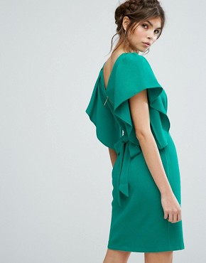photo Cape Sleeve Midi Dress by Closet London, color Green - Image 2