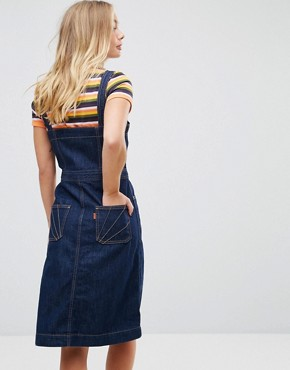 photo Tab Button Through Denim Dress by Levis Orange, color Super Dark Authentic - Image 2