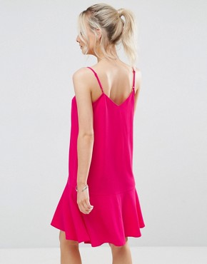 photo Peplum Hem Cami Dress by New Look Petite, color Bright Pink - Image 2