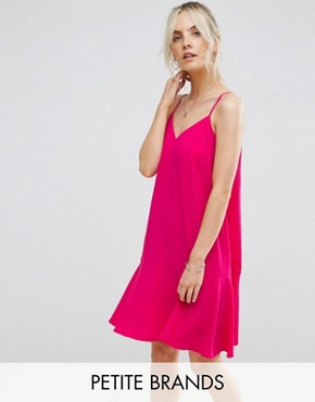 photo Peplum Hem Cami Dress by New Look Petite, color Bright Pink - Image 1