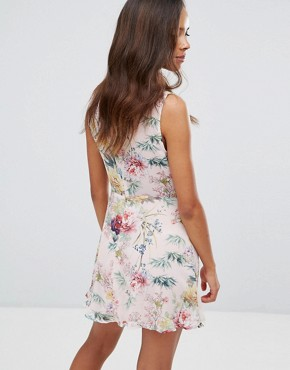 photo Floral Print Tea Dress by Missguided Petite, color Multi - Image 2