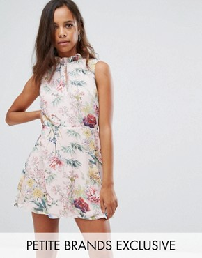 photo Floral Print Tea Dress by Missguided Petite, color Multi - Image 1