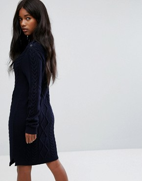photo Knitted Dress with Button Detail by Polo Ralph Lauren, color Navy - Image 2