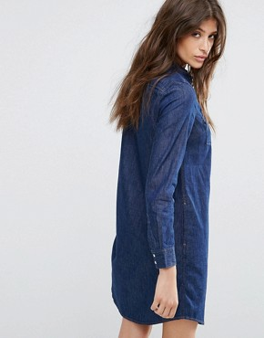 photo Iconic Western Denim Dress by Levis, color Authentic Dark - Image 2