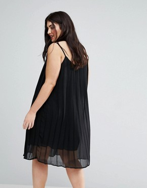 photo Pleated Strappy Dress by Lovedrobe, color Black - Image 2