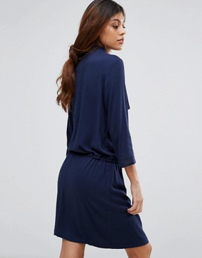 photo Matoma Dress with Drape Neck by Gestuz, color Navy - Image 2