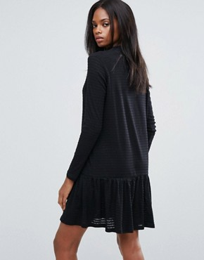 photo Mary High Neck Skater Dress by Pieces, color Black - Image 2