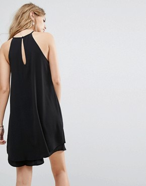 photo High Neck Halter Dress by Only, color Black - Image 2