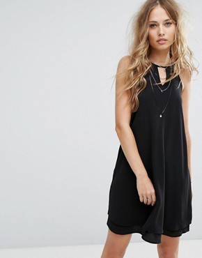 photo High Neck Halter Dress by Only, color Black - Image 1