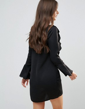 photo Dress with Frill Detail by QED London, color Black - Image 2