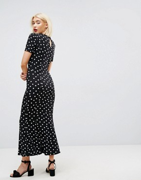 photo City Maxi Tea Dress in Polka Dot Print by ASOS, color Polka Dot - Image 2