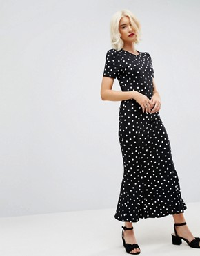 photo City Maxi Tea Dress in Polka Dot Print by ASOS, color Polka Dot - Image 1
