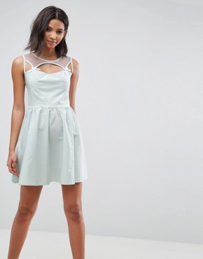 photo Maisy Mini Skater Dress by Hell Bunny, color Mint - Image 1
