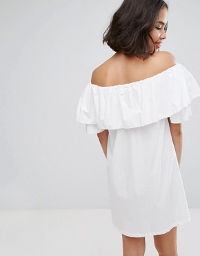 photo Off Shoulder Dress by Pull&Bear, color White - Image 2