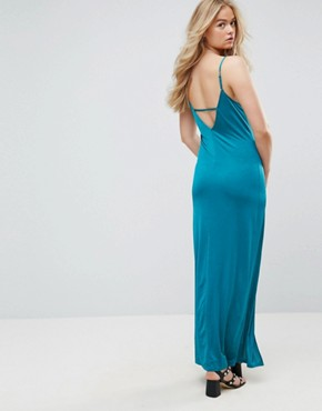 photo Maxi Dress with V-Back by ASOS TALL, color Khaki - Image 2