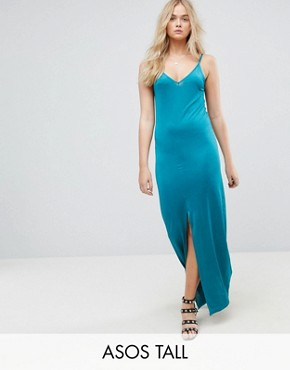 photo Maxi Dress with V-Back by ASOS TALL, color Khaki - Image 1