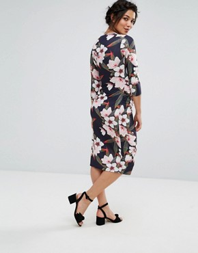photo Floral Print Bodycon Dress by Bluebelle Maternity, color Multi - Image 2
