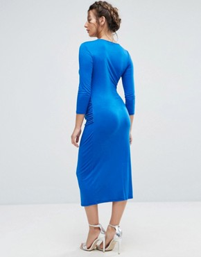 photo Bodycon Dress with 3/4 Sleeve by Bluebelle Maternity, color Cobalt - Image 2