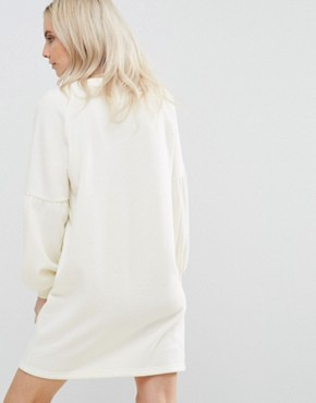 photo Embroidered Sweater Dress by Vero Moda Petite, color Winter White - Image 2