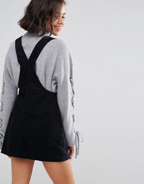 photo Denim Dungaree Dress by Pull&Bear, color Black - Image 2