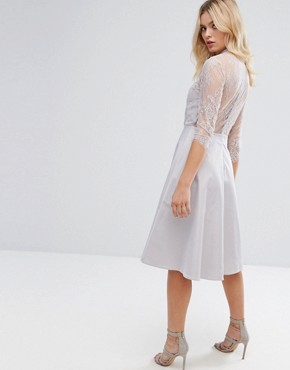 photo Lace Dress by Y.A.S, color Silver - Image 2
