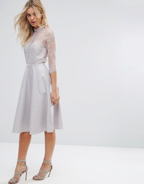 photo Lace Dress by Y.A.S, color Silver - Image 1