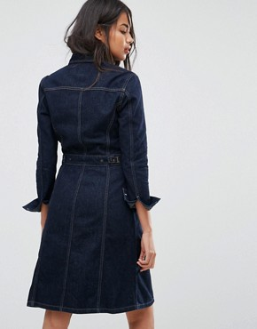 photo Button Through Authentic Denim Dress by Lee, color Rinse - Image 2